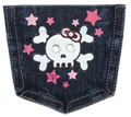 Skull Girl Pocket