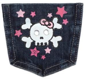 Skull Girl Pocket