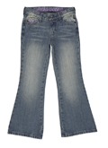 Bootcut Jeans - Distressed Light Wash