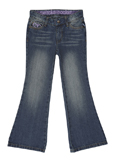 Bootcut Jeans - Distressed Medium Wash