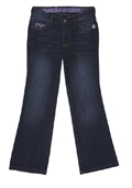 Regular Fit Jeans - Distressed Dark Wash