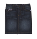 Denim Skirt - Distressed Dark Wash